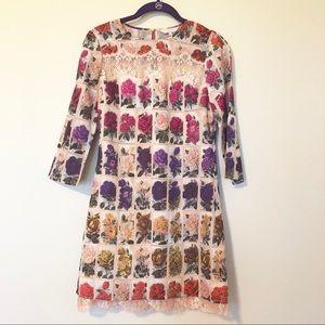 💕HP💕 Ted Baker Sew in Love Rose Print Dress